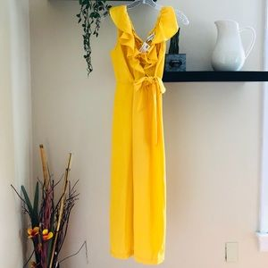 Yellow Ruffled Jumpsuit